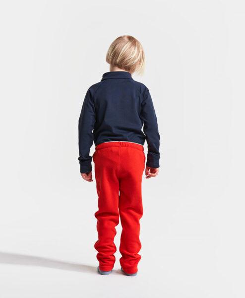 DIDRIKSONS Kids Microfleece Pants 502675 MONTE, Chili Red 1