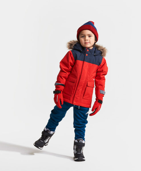 DIDRIKSONS Kids Parka 502679 KURE, Chili Red 4
