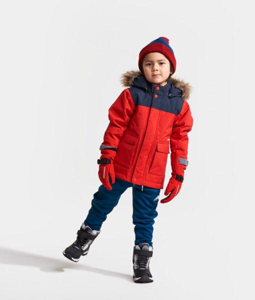 DIDRIKSONS Kids Parka 502679 KURE, Chili Red 4