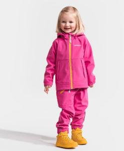DIDRIKSONS Kids Softshell Jacket 502632 POGGIN, Plastic Pink 2