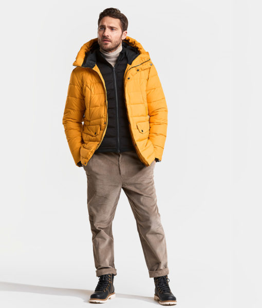 DIDRIKSONS Men Jacket 502807 URBAN, Yellow Ochre 1