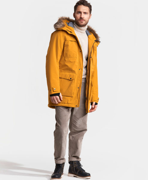 DIDRIKSONS Men Parka 502795 REIDAR, Yellow Ochre