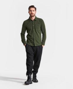 DIDRIKSONS Men Shirt 502769 LARS, Spurce Green 1