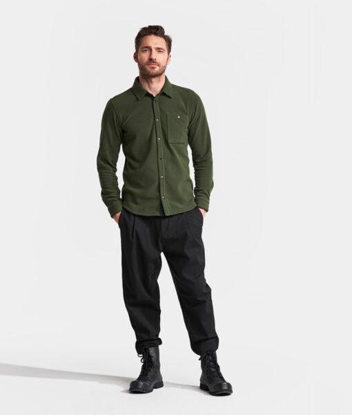 DIDRIKSONS Men Shirt 502769 LARS, Spurce Green