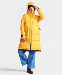 DIDRIKSONS Women Oversized Parka 502750 ELAINE, Oat Yellow 4