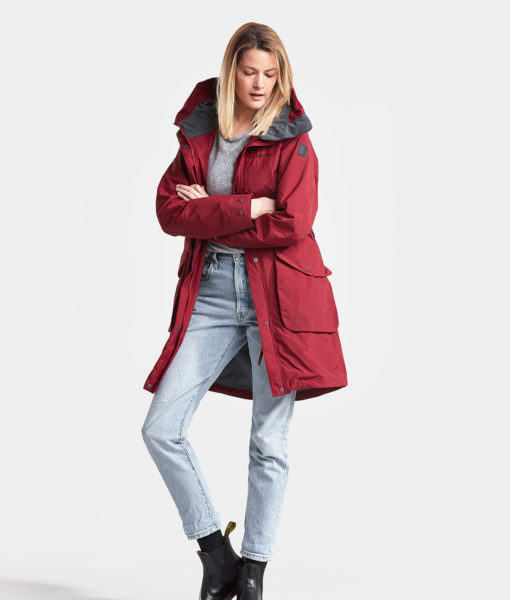 DIDRIKSONS Women Parka 502716 THELMA, Element Red 229.99