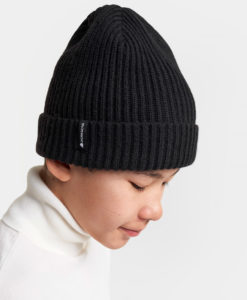 DIDRIKSONS Youth Beanie 502842 NILSON, Black 1