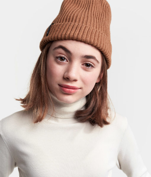 DIDRIKSONS Youth Beanie 502842 NILSON, Toffee Brown