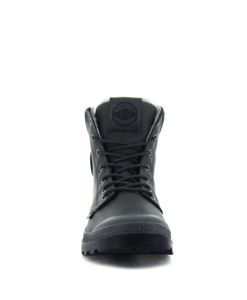 PALLADIUM Unisex Ankle Boots 72992 PAMPA SPORT CUFF WPS LTHR, Dark Dull Grey 1