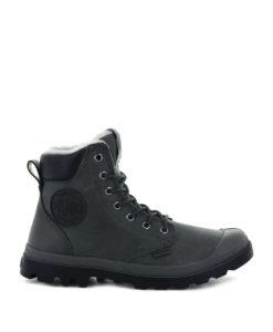 PALLADIUM Unisex Ankle Boots 72992 PAMPA SPORT CUFF WPS LTHR, Dark Dull Grey