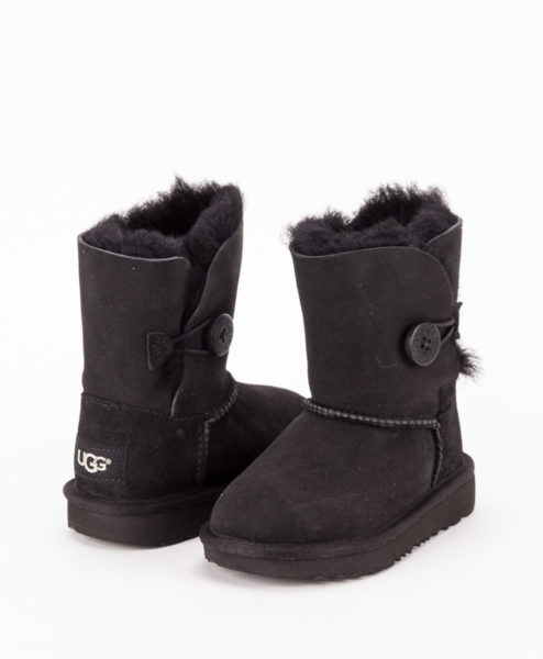 UGG Toddlers Ankle Boots 1017400T BAILEY BUTTON II, Black 1