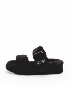 UGG Woman Slippers 1104662 FUZZ YEAH, Black