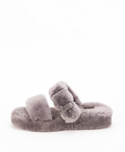 UGG Woman Slippers 1104662 FUZZ YEAH, Charcoal