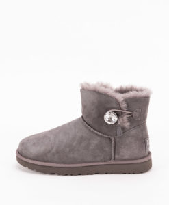 UGG Women Ankle Boots 1016554, MINI BAILEY BUTTON BLING, Grey