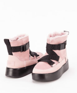 UGG Women Ankle Boots 1104616 CLASSIC BOOM BUCKLE MINI, Pink Crystal 1