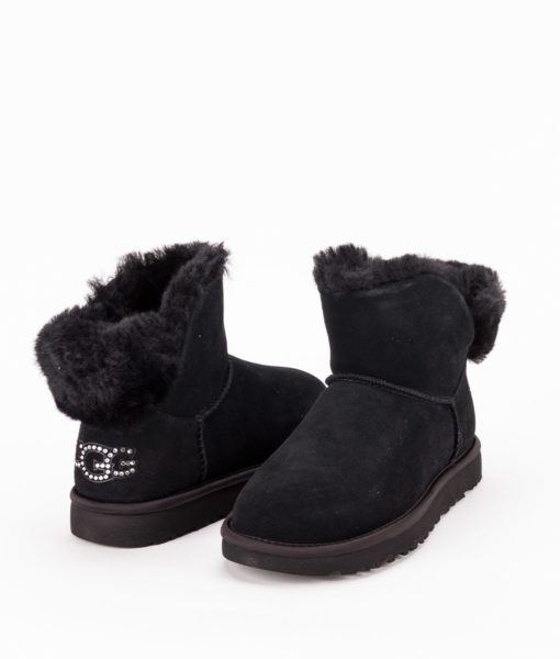 UGG Women Ankle Boots 1105364 CLASSIC BLING MINI, Black 1
