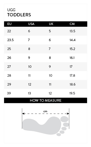 Size-chart-UGG-TODDLERS